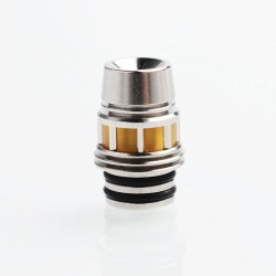 SXK 415 Style Replacement Drip Tip - Silver, PEI + Stainless Steel, 17mm