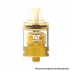 Authentic Oumier Wasp Nano MTL RTA Rebuildable Tank Atomizer - Gold, Stainless Steel + Glass, 1.2ml / 2.0ml, 22mm Diameter