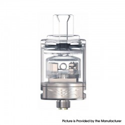 Authentic Oumier Wasp Nano MTL RTA Rebuildable Tank Atomizer - SS, Stainless Steel + Glass, 1.2ml / 2.0ml, 22mm Diameter