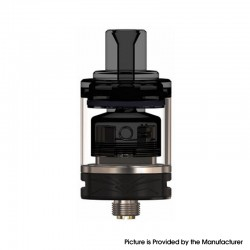 Authentic Oumier Wasp Nano MTL RTA Rebuildable Tank Atomizer - Black, Stainless Steel + Glass, 1.2ml / 2.0ml, 22mm Diameter