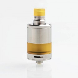 Authentic Fumytech BDvape Precisio MTL Pure RTA Rebuildable Tank Atomizer - Silver, SS + Ultem, 2.7ml, 22mm Dia.