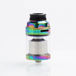 Authentic Augvape Intake Dual RTA Rebuildable Tank Atomizer - Rainbow, Stainless Steel, 4.2ml / 5.8ml, 26mm Diameter
