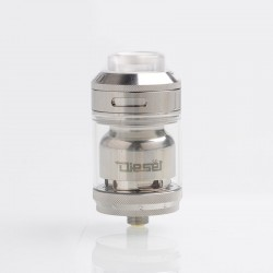 Authentic Timesvape Diesel RTA Rebuildable Tank Atomizer - Silver, Stainless Steel, 2ml / 5ml, 25mm Diameter