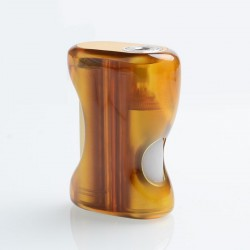 Authentic Fumytech BDvape Pure BF Squonk Mechanical Box Mod - Brown, PEI + T6 Sandblasted Aluminum, 1 x 18650