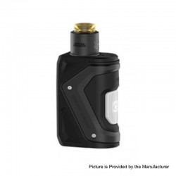 [Ships from HongKong 2] Authentic GeekVape AEGIS 100W TC VW Squonk Box Mod + Tengu RDA Tank Kit- Black, 5~100W, 1 x 18650, 9ml