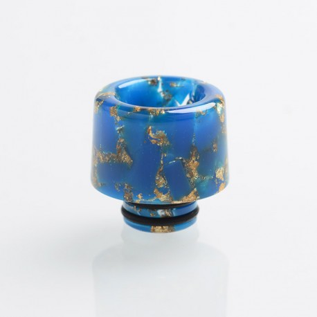 Authentic Reewape AS177 510 Drip Tip for RDA / RTA / RDTA / Sub-Ohm Tank Atomizer - Blue Gold, Resin, 15mm