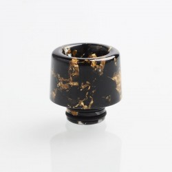 Authentic Reewape AS177 510 Drip Tip for RDA / RTA / RDTA / Sub-Ohm Tank Atomizer - Black Gold, Resin, 15mm