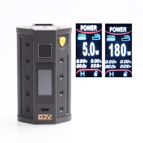 Authentic DEJAVU DJV D7 180W TC VW Variable Wattage Box Mod - Black, 5~180W, 2 x 18650