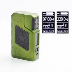 Authentic Tesla P226 220W TC VW Variable Wattage Box Mod - Green, 7~220W, 2 x 18650