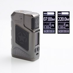 Authentic Tesla P226 220W TC VW Variable Wattage Box Mod - Gun Metal, 7~220W, 2 x 18650