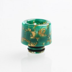 Authentic Reewape AS177 510 Drip Tip for RDA / RTA / RDTA / Sub-Ohm Tank Atomizer - Green Gold, Resin, 15mm