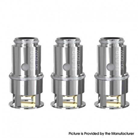 Authentic Eleaf EF Replacement Coil Head for Eleaf Pesso Tank - Silver, 0.3ohm (30~60W) (3 PCS)