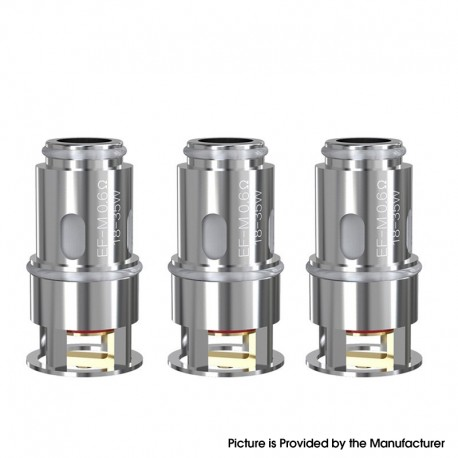 Authentic Eleaf EF-M Replacement Coil Head for Eleaf Pesso Tank - Silver, 0.6ohm (18~35W) (3 PCS)