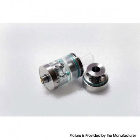 Authentic Footoon Aqua Pro RTA Rebuildable Tank Atomizer - Silver, Stainless Steel + PC, 2ml / 4ml, 22mm Diameter
