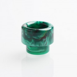 Authentic Reewape AS160 Replacement 810 Drip Tip for 528 Goon / Reload / Battle RDA - Green, Resin, 14mm