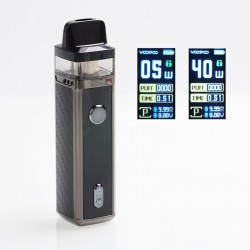Authentic VOOPOO VINCI 40W 1500mAh VW Mod Pod System Starter Kit - Carbon Fiber, 5~40W, 5.5ml (Standard Edition)
