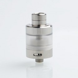SXK Le S-Tank Style RDL RTA Rebuildable Tank Atomizer - Silver, 316 Stainless Steel + PC, 3.5ml, 22mm Diameter