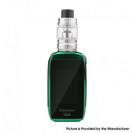 Authentic Tesla Shinyo 213W TC VW Box Mod w/ Tind Tank Kit - Green, Zinc Alloy + SS + PC, 5~213W, 2 x 18650