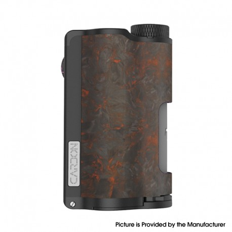 Authentic DOVPO Topside Dual Carbon 200W YIHI Chip TC VW Squonk Box Mod - Carbon Red, Aluminum Alloy, 5~200W, 2 x 18650