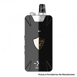 Authentic THC Thunderhead Creations Tauren X 25W 1000mAh Mesh Pod System VW Box Mod Kit - Black, Aluminium Alloy, 2ml, 5~25W