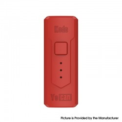 Authentic Yocan Kodo 400mAh Battery Box Mod for 510 Thread Atomizer - Red, PC