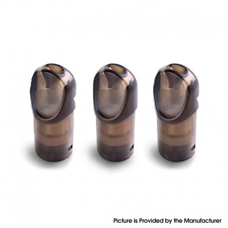 Authentic Vapor Storm Ares Pod Kit Replacement Pod Cartridge w/ 1.3ohm Coil - Brown Black, 1.6ml (3 PCS)
