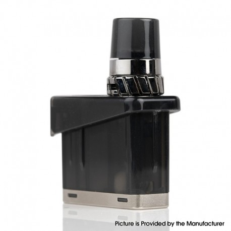 Authentic Wismec Preva DNA Pod Kit Replacement Pod Cartridge w/ Coils - Black, 3ml, 0.25ohm / 0.5ohm