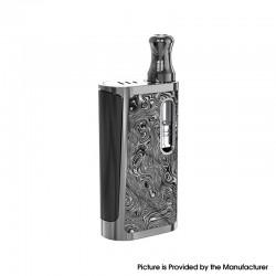 Authentic Kangvape Klasik V2 650mAh VV Box Mod E-Cigarette Starter Kit w/ K5 Atomizer - Gun Metal, Zinc Alloy, 0.5ml