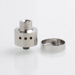 Sichro Style RDA Rebuildable Dripping Atomizer w/ BF Pin - Silver, 316 Stainless Steel, 22mm Diameter