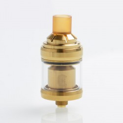 Reload Style MTL RTA Rebuildable Tank Atomizer - Gold, Stainless Steel, 2ml, 22mm Diameter