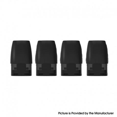 Authentic Bohr Pury Pod System Replacement Pod Cartridge - Black, 0.9ml (4 PCS)
