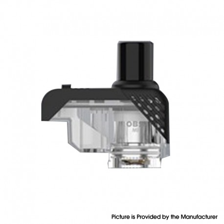 Authentic OBS Alter Pod System Replacement Pod Cartridge w/o Coils - Black + Transparent, 2ml