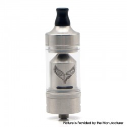 Value Geek Style MTL RTA Rebuildable Tank Atomizer - Silver, 316 Stainless Steel, 22mm Diameter