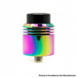 Authentic asMODus x Thesis Barrage RDA Rebuildable Dripping Atomizer w/ BF Pin - Rainbow, Stainless Steel, 24mm Diameter