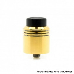 Authentic asMODus x Thesis Barrage RDA Rebuildable Dripping Atomizer w/ BF Pin - Gold, Stainless Steel, 24mm Diameter
