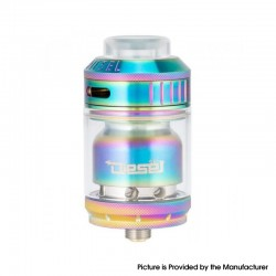 Authentic Timesvape Diesel RTA Rebuildable Tank Atomizer - Rainbow, Stainless Steel, 2ml / 5ml, 25mm Diameter