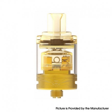 Authentic Oumier Wasp Nano MTL RTA Rebuildable Tank Atomizer w/ SS Inner Cap - Gold, SS + Glass, 1.2ml / 2.0ml, 22mm Diameter