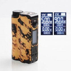 Authentic DOVPO Topside 90W TC VW Variable Wattage Squonk Box Mod - Black + Gold, 10ml, 1 x 18650 / 21700