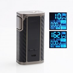 Authentic IJOY Captain 1865 162W TC VW Variable Wattage Box Mod - Mirror Gun Metal, 2 x 18650