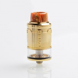 Authentic Vandy Vape Pyro V3 RDTA Rebuildable Dripping Tank Atomizer w/ BF Pin - Gold, Stainless Steel, 2ml, 24mm Diameter