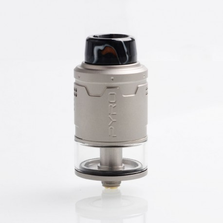 Authentic Vandy Vape Pyro V3 RDTA Rebuildable Dripping Tank Atomizer w/ BF Pin - Frosted Grey, SS, 2ml, 24mm Diameter