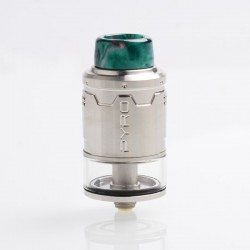 Authentic Vandy Vape Pyro V3 RDTA Rebuildable Dripping Tank Atomizer w/ BF Pin - SS, Stainless Steel, 2ml, 24mm Diameter