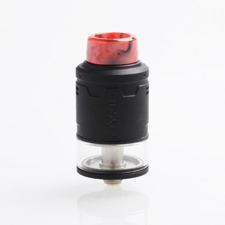 Authentic Vandy Vape Pyro V3 RDTA Rebuildable Dripping Tank Atomizer w/ BF Pin - Matte Black, Stainless Steel, 2ml, 24mm Dia.