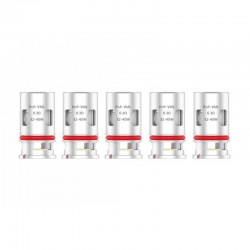 Authentic Voopoo PnP-VM1 DL Single Mesh Coil Head for Voopoo VINCI / VINCI R / VINCI X Pod Kit - Silver, 0.3ohm (32~40W) (5 PCS)