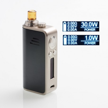 Authentic Hotcig Marvel 30W 1200mAh VW Mod Pod System Starter Kit - GunMetal, Zinc Alloy + PC, 1~30W, 0.6ohm / 1.2ohm