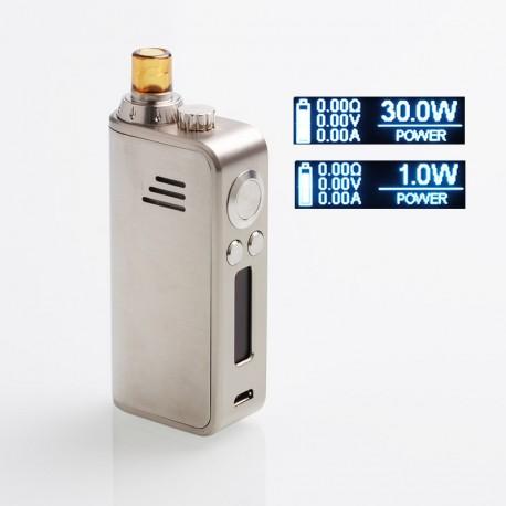 Authentic Hotcig Marvel 30W 1200mAh VW Mod Pod System Starter Kit - Silver, Zinc Alloy + PC, 1~30W, 0.6ohm / 1.2ohm