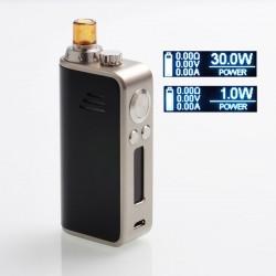 Authentic Hotcig Marvel 30W 1200mAh VW Mod Pod System Starter Kit - Black, Zinc Alloy + PC, 1~30W, 0.6ohm / 1.2ohm