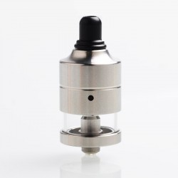 Authentic Cthulhu Mulan MTL RDTA Rebuildable Dripping Tank Atomizer w/ BF Pin - Silver, Stainless Steel + PC, 2ml, 22mm