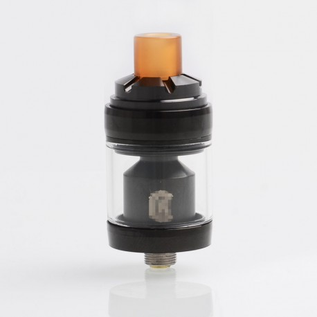 Reload Style MTL RTA Rebuildable Tank Atomizer - Black, Stainless Steel + Glass, 2ml, 22mm Diameter