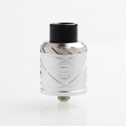 RH X Style RDA Rebuildable Dripping Atomizer w/ BF Pin - Silver, Stainless Steel + Aluminum, 24mm Diameter